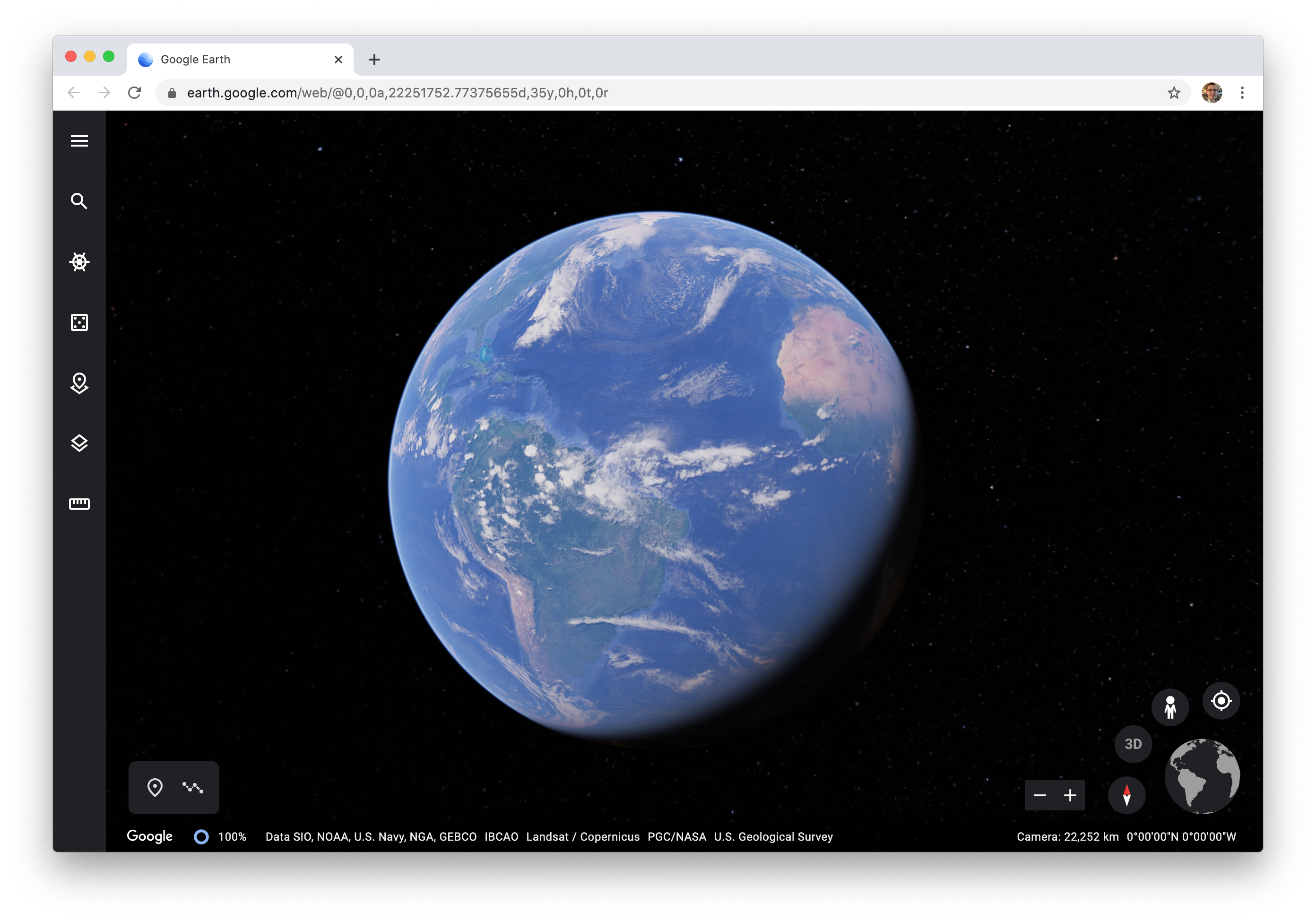Google Earth Web.